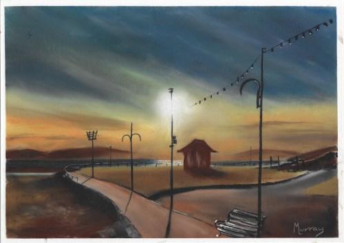 Largs Sunset Ayrshire Scottish Landscape Painting
