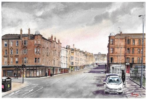 Glasgow Saltmarket Watercolour Painting