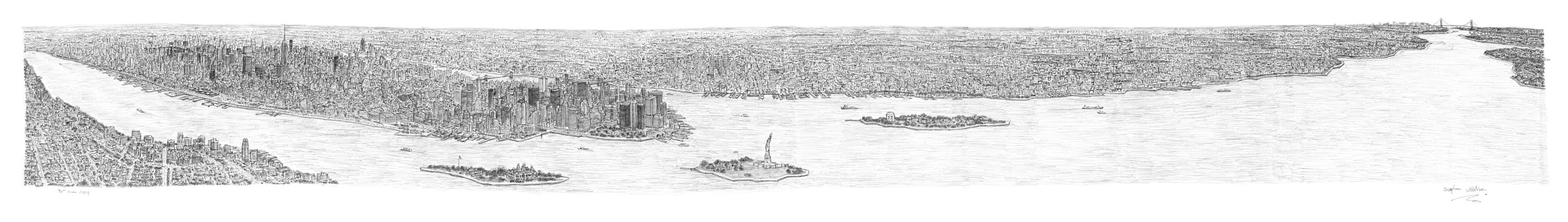 New York Panorama by Stephen Wiltshire