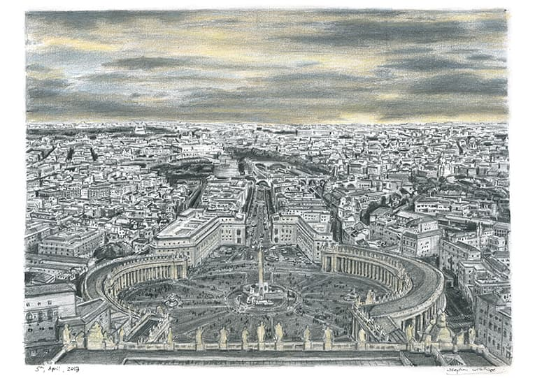 Vatican City (Rome) - drawings and paintings by Stephen Wiltshire MBE