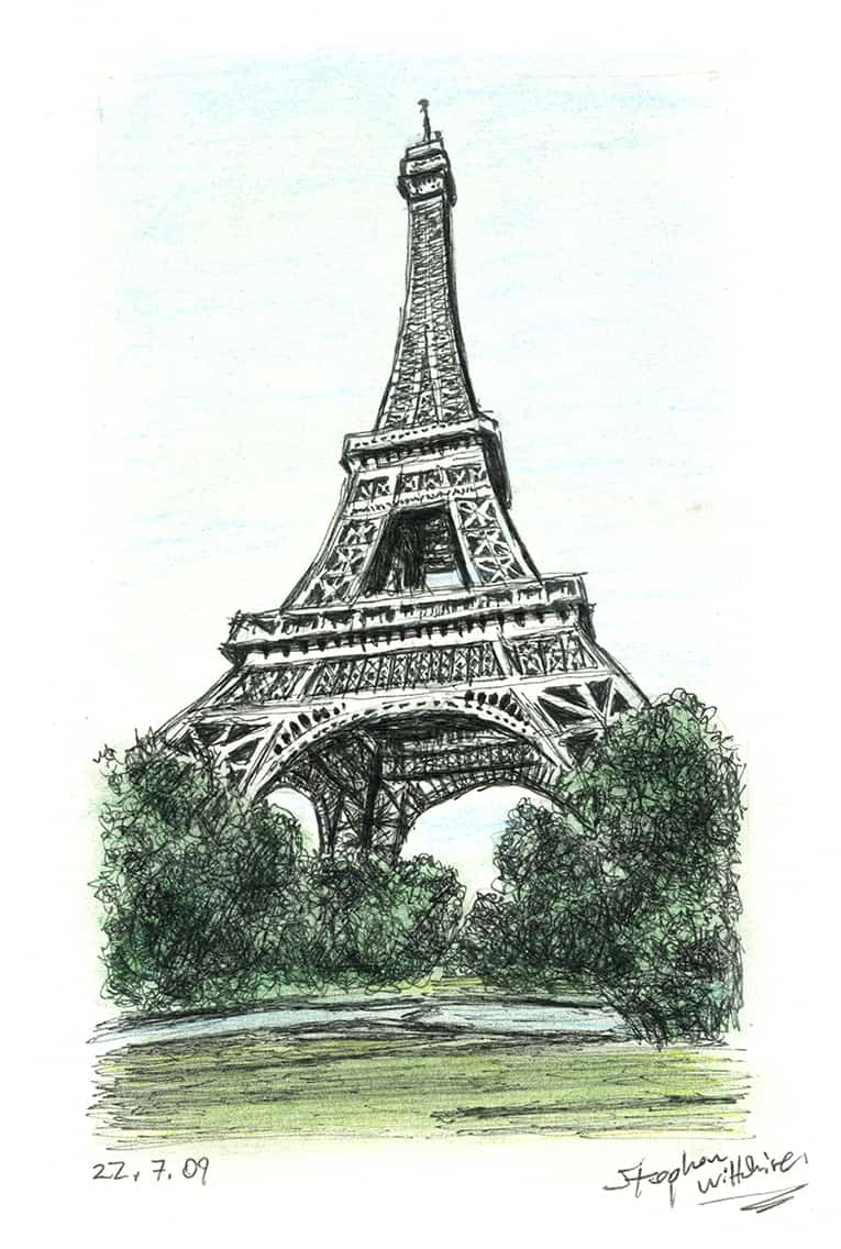 Prints Of The Eiffel Tower Paris Drawing