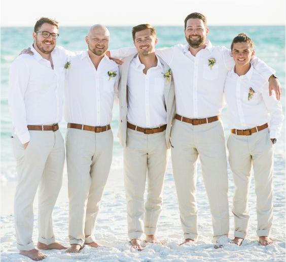 relaxed beach wedding