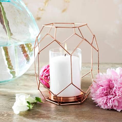 rose gold candle holder