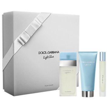 Dolce & Gabbana Light Blue Pour Femme 50ml Eau de Toilette for Women Fragrance Gift Set