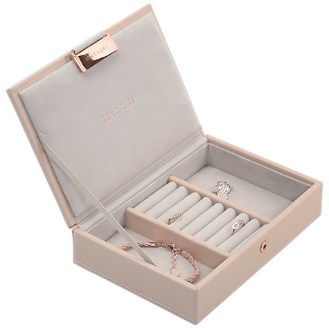 Stackers Mini Jewellery Box Lid, Blush Pink
