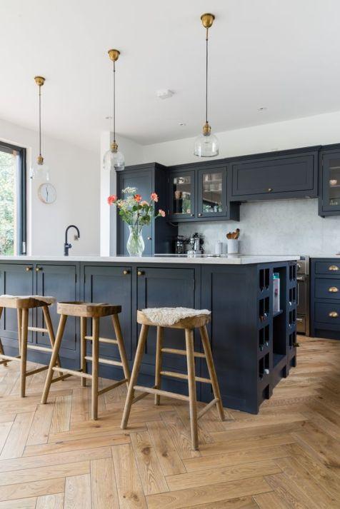 dark cupboards