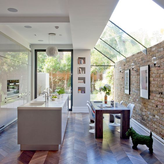 narrow open plan