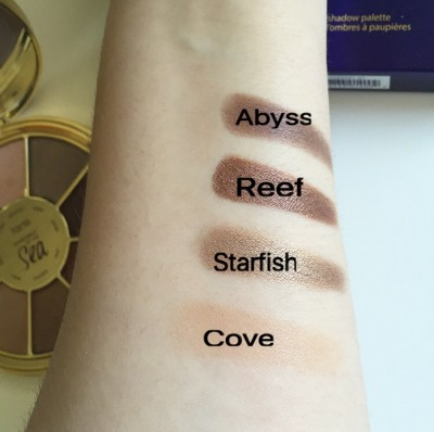 Tarte Rainforest of the Sea Swatches
