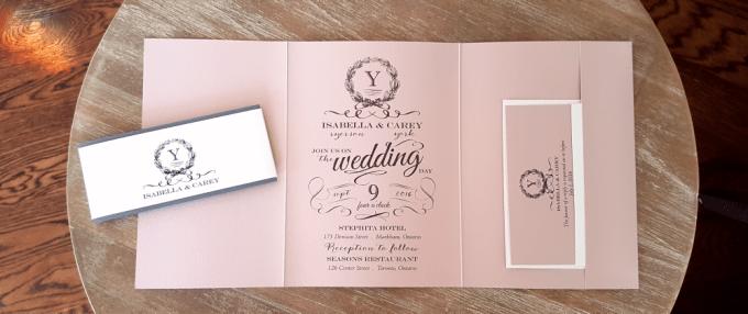 Affordable wedding invitations toronto dulahotw wedding invitations toronto affordable custom cards ribbon buckle filmwisefo