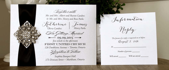 Monogram Line Of Wedding Invitations