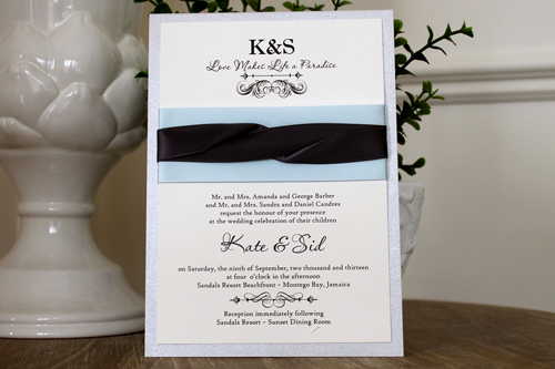Ideas Stephita Wedding Invitations Clics Line 107 A Trifold Vertical Invitation With Orchid Stationery And