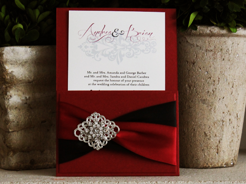 Enchanting Wedding Invitation Red Motif 37 With Additional Best Invitations