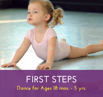 First Steps Dance Classes (ages 18 mos – 5 yrs)