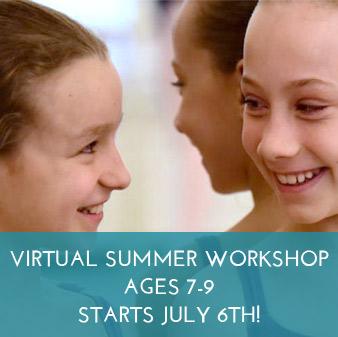 virtual Summer Dance Workshop, (ages 7-9)