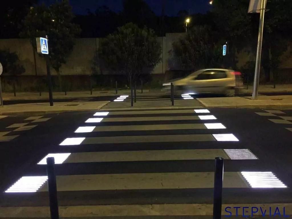 Pasos de peatones inteligentes en Portugal