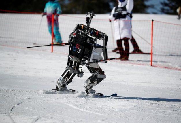Rudolph ski robot