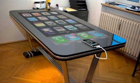 tableconnect Ein iPhone mit 58 Zoll-Display: Table Connect Technology