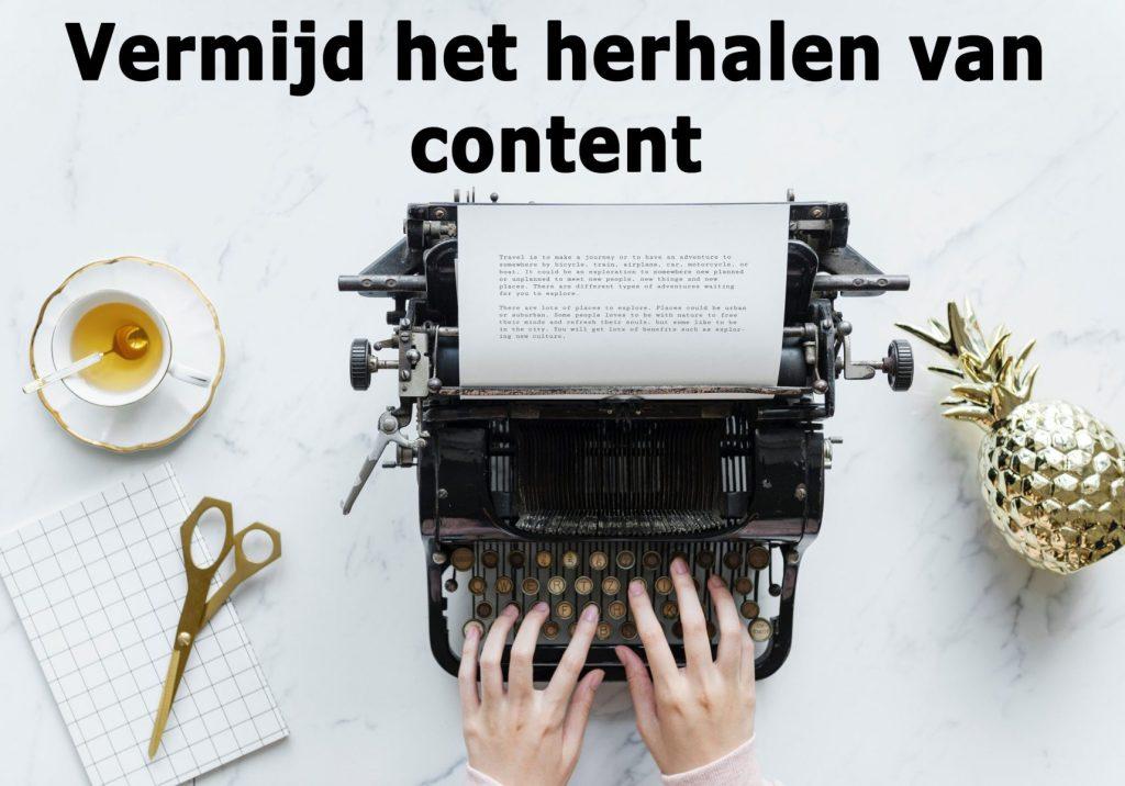 succesvol zakelijk bloggen doe je door geen gerecyclede content te gebruiken