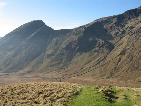 Yewbarrow on the left with Dorehead Screes