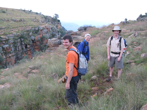 Steve, Leonie & Phil at Waterval Boven