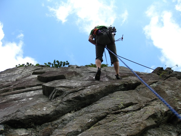 Abseiling after Crocadillo