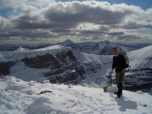 Great view of the Beinn Eighe ridge on a sunny day in April