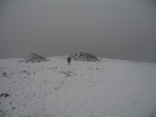 Red Pike in the cloud with a fresh layer of snow