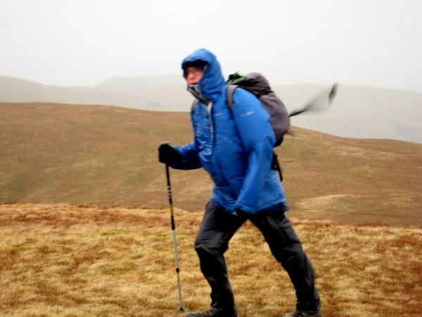 Arthur  , windswept on Broom Fell