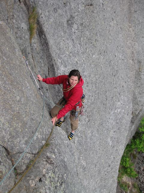 """Laetitia on the """"Top 50"""" route, Lys og Skygge"""