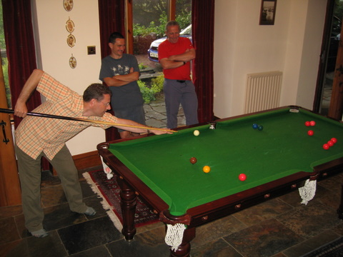 Snooker in the games room