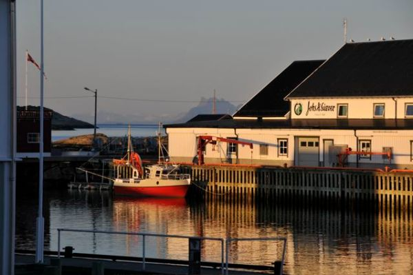 Last night's midnight sunshine in Henningsvaer