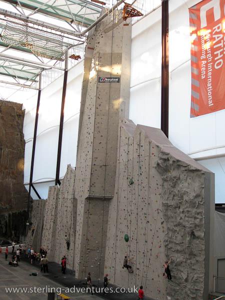 "Ratho climbing wall is ""Tall"""
