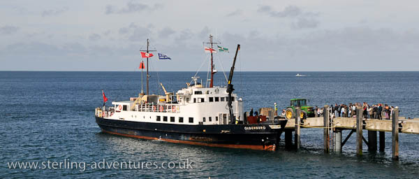 MS Oldenburg docked on Lundy