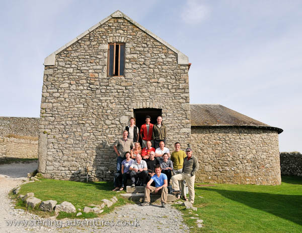 The CC group outside the Barn accommodation