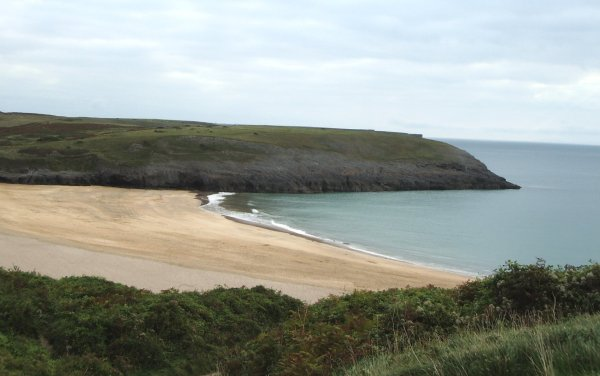 A deserted Broad Haven beach