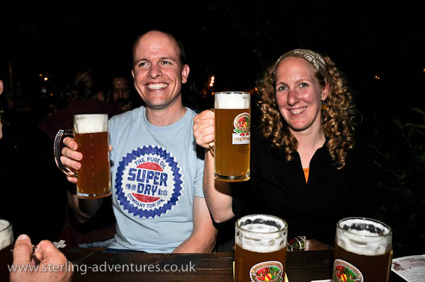 Mathias and Rebecca on our final night out in Karlsruhe