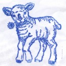 <i>Larry Sheep</i> (shouldn't that be <i>Lamb</i>?) Letterbox stamp