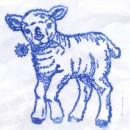 <i>Larry Sheep</i> (shouldn't that be <i>Lamb</i>?) Letterbox stamp