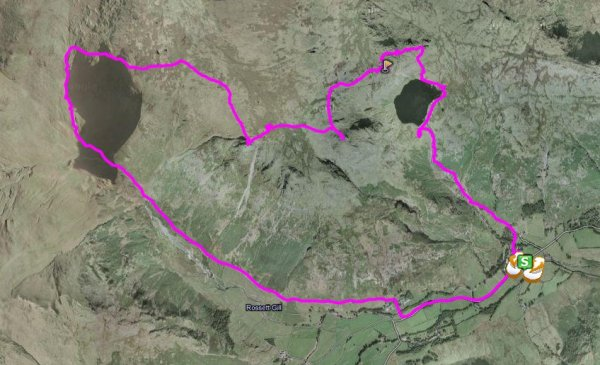 Our route according to the i-gotU.