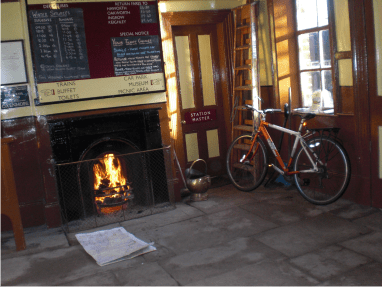 Station at Oxenholme where I was quite cold