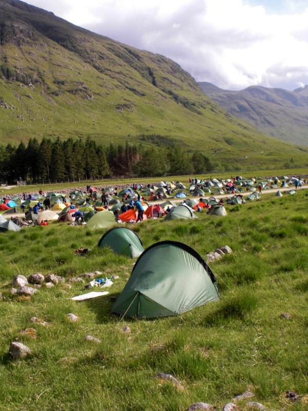 The mid-camp, in beautiful Glen Kinglass.