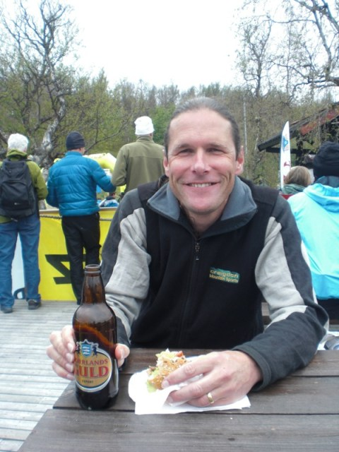 Enjoying the finish BAMMburger!