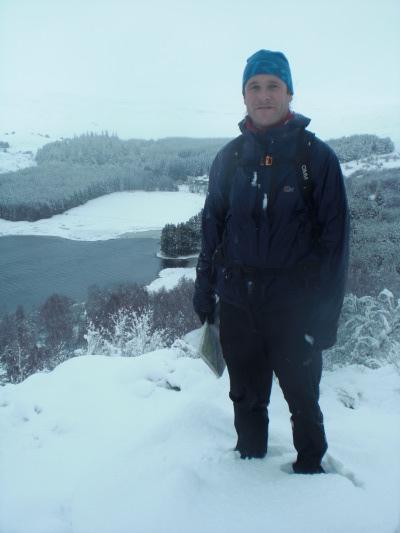 Richard standing atop Creag Bheag