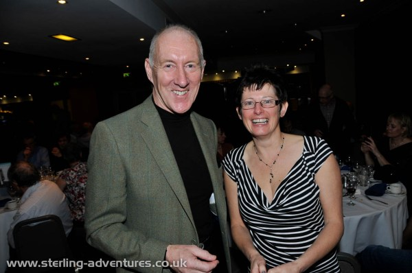 The after dinner speaker Jim Fotheringham and Fiona at the AGM dinner
