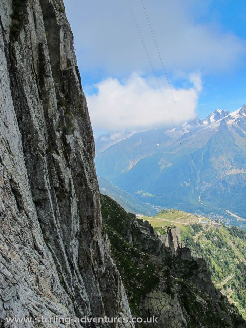 We were unlucky enough to be on the only cliff in the Chamonix valley not bathed in summer sun.  :-(