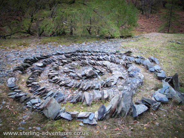 An artistic use for waste slate!