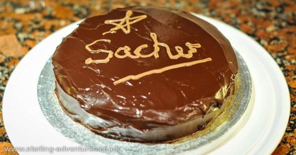 Is this Sacher's Sachertorte?  No, it's mine!