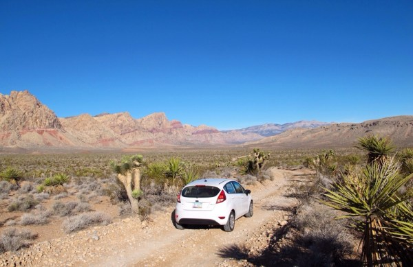 Off road approach to Black Canyon with the beautiful layers of red rock
