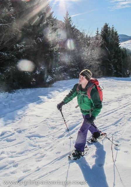 Thorsten striding up the Spießhorn