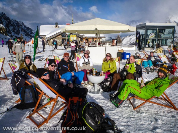 The assembled gang at Plan Praz